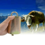 Special Loud Thick Cow Horse Sheep Farm Animals Anti-Lost Loud Bell, SIZE:S