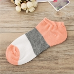 5 Pairs Shallow Mouth Socks Candy Color Ladies Boat Socks(Pink)