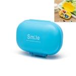 Portable Travel Pill Box Jewelry Storage Box(Blue)
