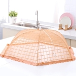 Foldable Round Rice Table Umbrella Dish Food Cover, Size:Large 80x28cm