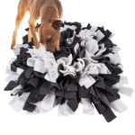 Biting Puzzle Dog Cat Foraging Toy Pet Sniffing Mat Slow Food Puzzle Training Blanket(Dark gray)