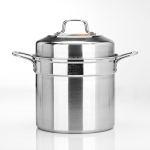 Stockpot Food Grade Material Souppot with Steamer Grid, Specification: 26cm