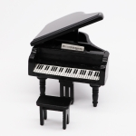 1:12 Mini House Toy Simulation Grand Piano Decoration(black )