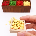 30 PCS / 3 Packs 1:12 Mini Doll House Simulation Peach Kitchen Food Play Accessories Miniature Fruit Decoration