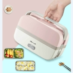 Electric Cooking Lunch Box Double Stainless Steel Lunch Vacuum Preservation Box, Plug Specifications:CN Plug