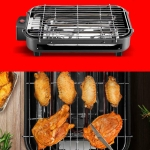 Multi-function Electric Grills Home Baking Pan Smokeless 220V Indoor BBQ machine, Plug Specification:CN Plug