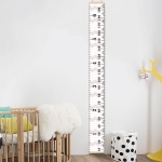 Wooden Wall Hanging Kids Growth Chart Height Measure Ruler Wall Sticker for Kids Room Home Decoration(Pink Wave)