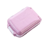 2 PCS Creative First Aid Pill Box Outdoor Portable Travel Waterproof Medicine Bag Organizer Box(Pink)