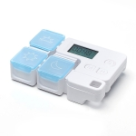 Portable Intelligent Plastic Storage Box Electronic Timing Reminder Medicine Boxes(Sky Blue)