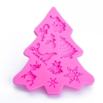 Christmas Tree Fondant Silicone Mold Cake Chocolate Biscuit Decoration Tool