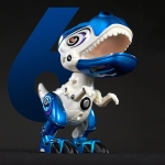 Alloy Mechanical Dinosaur Joint Movable Belt Sound And Light Toy Model(Blue)