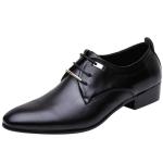 Men Business Dress Shoes Pointed Toe Men Shoes, Size:46(Black)