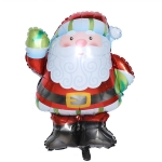 5 PCS Christmas Mini Cartoon Decoration Snowman Old Man Bell Christmas Tree Aluminum Film Aluminum Foil Balloon, Specificate:Santa Claus