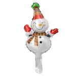 5 PCS Christmas Mini Cartoon Decoration Snowman Old Man Bell Christmas Tree Aluminum Film Aluminum Foil Balloon, Specificate:Christmas Snowman