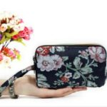 Women Wallet Three Layers Bag with Wrist Belt Zipper Clutches Cute Cartoon Cat Floral Mermaid Female Wallet Lady(U31)