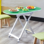 Folding Table Dining Table Portable Outdoor Table Simple Study Table, Height:75cm(Green)