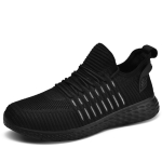 Summer Comfortable Breathable Men Training Lightweight Sneakers, Shoe Size:40(Black)