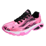 Lovers Basketball Shoes Breathable Wear-Resistant Shock Absorbers School Running Shoes, Shoe Size:40(Pink)