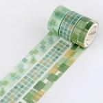 Letter Paper Tape Set Color Emotion Series Handbook Decorative Collage Graffiti Tape(Matcha)