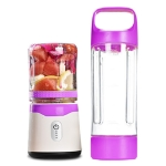 Six-leaf Electric USB Charging Portable Mini Fruit Juicer Juice Cup, Size:26×8.8×8.8cm(Purple)