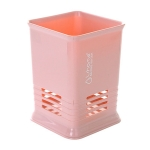 Kitchen Tabletop Candy Color Compartment Hollow Chopsticks Cage Creative Kitchen Cage Cutlery Drain Storage Chopsticks Rack, Number of layers:Single grids pink