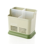 Kitchen Tabletop Candy Color Compartment Hollow Chopsticks Cage Creative Kitchen Cage Cutlery Drain Storage Chopsticks Rack, Number of layers:Four grids of green