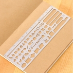 Multifunctional Stainless Steel Hollow Diary Template Ruler, Size:13.8×6.8cm(Style 2)