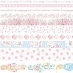 Paper Tape Set Clipper Label Shield Ancient Wind Girl Heart Student Hand Cute Sticker Sakura Series, Size:10 Pack