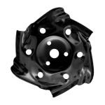 Alloy Dragon Claw Plate Hit Grass Pine Soil Mower Accessories(Black)