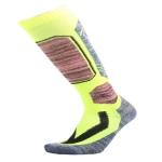 Ski Socks Outdoor Sports Thick Long Sweat-absorbent Warm Hiking Socks, Size:40-45(Fluorescent Green)