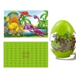 Children Puzzle Wooden Toy Dinosaur Egg 60 Pieces Wood Puzzle(QMJ-6601)