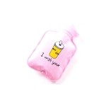 Cartoon Mini Water Injection Hot Water Bag Portable Hand Warmer, Color:Pink Cup