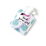 Cartoon Mini Water Injection Hot Water Bag Portable Hand Warmer, Color:White Flamingo
