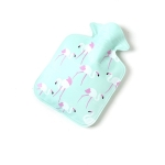 Cartoon Mini Water Injection Hot Water Bag Portable Hand Warmer, Color:Blue Flamingo