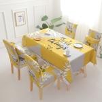 Waterproof Anti-scalding Tablecloth Light Luxury Cotton Linen Table Cloth, Size:120x120cm(Yellow)