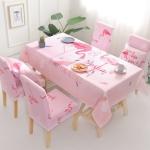 Waterproof Anti-scalding Tablecloth Light Luxury Cotton Linen Table Cloth, Size:140x210cm(Pink Bird)