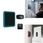 Wall-mounted iPad Magnetic Adsorption Universal Sticker Mobile Phone Wall Bracket(Blue B)