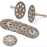 10 Saw Blade 2 Connecting rod 8 Holes Emery Cutting Chip Jade  Saw Blade Electric Grinder Accessories, Size:20MM