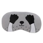 3 PCS Cartoon Eye Mask Soft Padded Sleep Travel Shade Cover Rest Relax Eye Sleeping Mask Case(Black Hand)