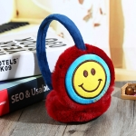 Winter Smiling Face Ear Cover Warmer Headband(jujube red)