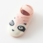 Baby Socks Newborn Cartoon Terry Cotton Children Autumn Winter Non-slip Socks, Size:S(Pink Dog)