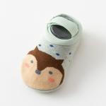 Baby Socks Newborn Cartoon Terry Cotton Children Autumn Winter Non-slip Socks, Size:M(Blue Fox)