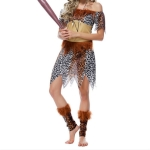 Leopard Indian Tribe Princess Cosplay Costume, Size:One Size(Khaki)