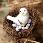 Rattan Nest Bird Bird Crafts Chicken Nest DIY Handmade Bird Nest Scene Props, Size:15cm