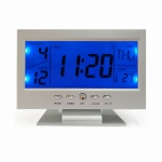 Large Screen Electronic Clock Smart Mute Luminous Clock with Thermometer