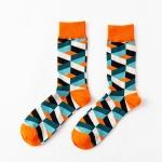 Unisex Fashion Street Skateboarding Socks Durable Cotton Sock(Orange Head Heel)