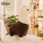 65cm Grass Mud Horse Alpaca Doll Pillow Doll Plush Toy (Brown)
