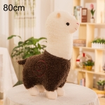 80cm Grass Mud Horse Alpaca Doll Pillow Doll Plush Toy(Brown)