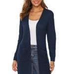 Irregular Solid Long Sweater (Color:Blue Size:L)