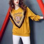 Fashion Personality Printed Long-sleeved Shirts (Color:Yellow Size:XL)